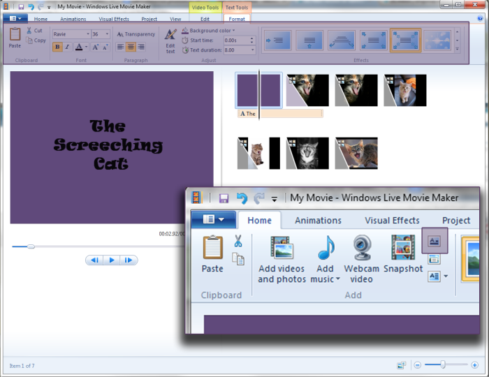 Title Slide Windows Movie Maker