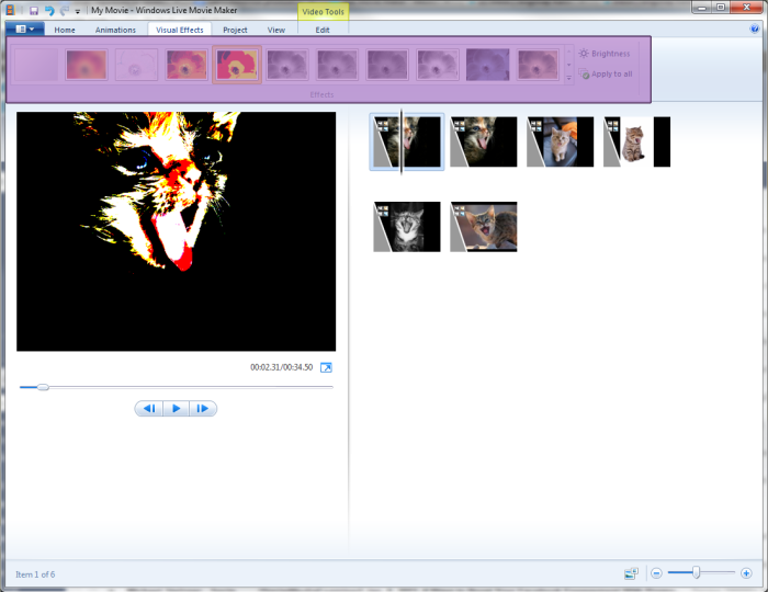 Visual Effects Windows Media Maker